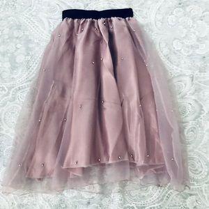 Dresses & Skirts - Muave, Midi tool, pearl skirt